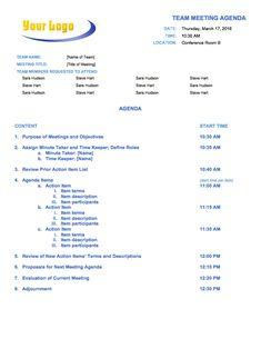 Free Meeting Agenda Templates  Smartsheet  Desktop