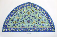 Blue Turkish Tile Print c. 1940s 9 1/4 x 13 inches от TheBlueTwig