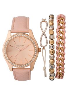 *PRIORITY* Pastel Apricot Watch and Bracelet Set - maurices.com SO PRETTY WOW