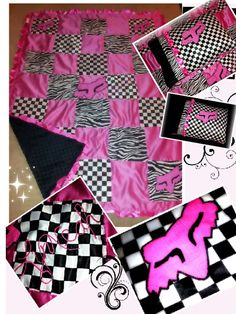 Fox racing twin/ adult throw  custom blanket and matching pillow case on Etsy, $90.00