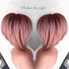 Rose Gold Hair Bob