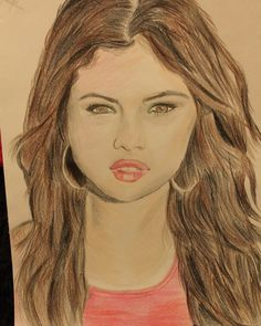 #selenagomez #famous #2015 #face #artwork #drawer #paint