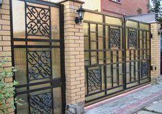 Best And Popular Front Door Main Entrance Door Design, Main Gate Design, Entrance Gates, Fence Design, Front Door Paint Colors, Painted Front Doors, Exterior Door Trim, Classic Doors, Wrought Iron Doors