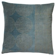 Tatiana Cushion Cover, Large - Turquoise/Gold