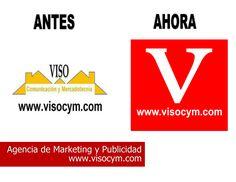 Logotipo VISO Comunicacion y Mercadotecnia antes y después www.visocym.com