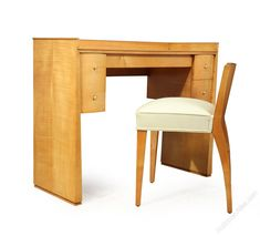 A French Art Deco Sycamore Dressing Table & Chair - Antiques Atlas