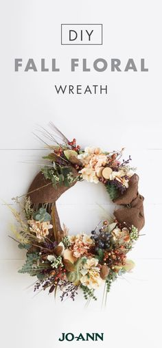 Welcome in cozy color pallets, chilly weather, and even Thanksgiving guests with this DIY Fall Floral Wreath. Easy to make, this project from Jo-Ann is sure to give you the curb appeal you're looking for when getting your home ready for holiday party guests.