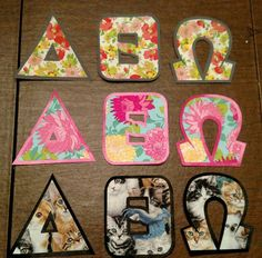 This listing is for one set of 2 or 3 Custom Iron On Greek Letters. These letters do not come with any apparel but are easy to iron on and make a t-shirt, sweatshirt, bag (ect.) look great while sporting your sorority or fraternity letters! If you want a particular fabric that I dont have send me a message and I will try my best to get it for you!  Fabrics 27 and 28 are seersucker!  The letters are approximately 4 inches high by 4 inches wide and can be applied to almost any fabric due to…