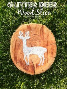 Glitter Deer Wood Sl...