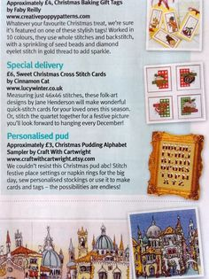 Craft with Ruth Cartwright: Cross stitch Christmas pudding alphabet as featured in Cross stitch crazy magazine £3.00