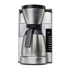 Coffee Maker MT900 Thermal Carafe 10 Cup Stainless Steel 50 Reservoir Capacity Include Goldtone Filter/Charcoal Filter Stainless Steel/Polypropylene Thermal Coffee Maker, Best Coffee Maker, Drip Coffee Maker, Coffee Cups, Coffee Shop, Coffee Percolator, Coffee Coffee, Coffee Break, Coffee Machine