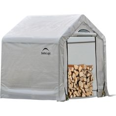 Shelterlogic Firewood Seasoning Shed — 5ft.l X 3 1/2ft.w X 5ft.h, Holds 1/2…