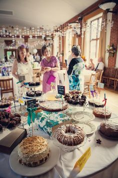 Cakes at Laura and Mike's DIY hipster village fete wedding… Floral Wedding, Wedding Colors, Diy Wedding, Wedding Ideas, Wedding Desserts, Wedding Decorations, Afternoon Tea Wedding, Village Fete, Hipster Wedding