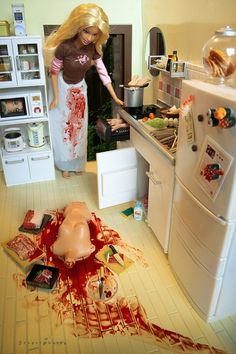 I just can't get enough of the serial killer Barbie.