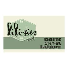 Lili-Ties Business Card - www.lilities.com