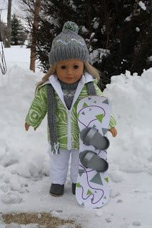 Snow board - DIY - Arts and Crafts for your American Girl Doll