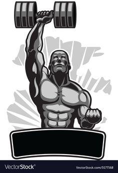 Body Builder with Barbell Royalty Free Vector Image Batman Joker Wallpaper, Joker Wallpapers, Avengers Wallpaper, Bodybuilding Logo, Bodybuilding Pictures, Sport Motivation, Deadpool And Spiderman, Black Manta, Gym Interior