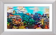 'View Of Fort Canning' - Watercolour Print. Original Singapore art by Roger Smith. Reproduced on Archival Heavyweight Paper. https://www.zazzle.com/view_of_fort_canning_watercolour_print-228519970836447565 #art #Singapore #FortCanning #RogerSmith #watercolour