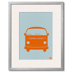 Find it at the Foundary - Orange VW Bus Print
