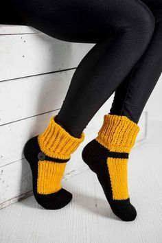 Knit Slipper Socks Adult Mary Jane Slippers Sox Dark Yellow House Slippers Womens Slippers Home Slippers Black House Shoes Gifts Under 40 Strick Pantoffel Socke Erwachsener Mary Jane Hausschuhe Sox. Knitted Slippers, Slipper Socks, Selling Handmade Items, Yellow Houses, Knitting Socks, Free Knitting, Crochet Scarves, Knit Crochet, Womens Slippers