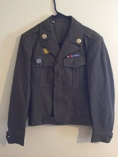 1943 Men's Army Field Jacket Sz 34R Made in USA size 34R Free Shipping #Unknown #FieldJacket