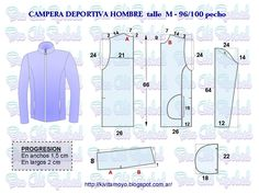 KiVita MoYo:  CAMPERA DEPORTIVA PARA HOMBRE  talle M Mens Shirt Pattern, Jacket Pattern, Sewing Men, Love Sewing, How To Make Clothes, Diy Clothes, Fashion Sewing, Mens Fashion, Sewing Paterns