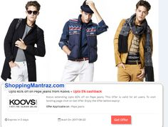 online men fashions with best  deal coupons