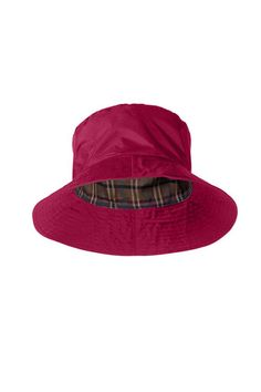 Target Dry Ladies Storm Rain Hat - Loganberry Pink With a stylish check  lining The Storm ffa72356b387