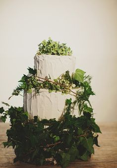 enchanted forest theme wedding cake on Hello May