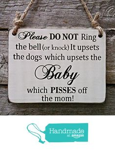 Baby Sleeping Do Not Disturb Sign - Dogs Do Not Disturb Sign - Baby Sleeping Sign - Baby Shower Gift from Edison Wood