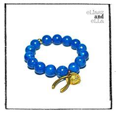 "Eliasz and Ella Jewelry and Accessories - ""Lucky Blue"" Natural Stone Bracelet, $27.00 (http://eliaszandella.ca/lucky-blue-natural-stone-bracelet/)"