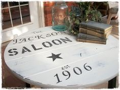 How to make a table top sign with a story