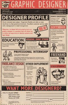Resume Inspiration - Great uses of Typography
