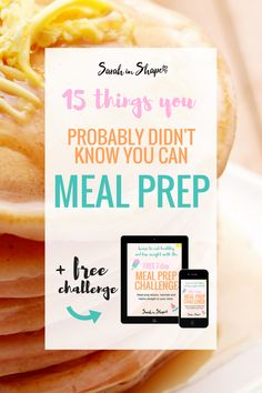 There's a wide variety of things you can meal prep that you probably didn't know about. From breakfast, lunch, dinner and snacks, find out what else you can prep ahead.