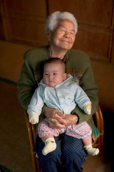 Leaping into heaven - holding her ggg granddaughter