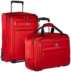 Delsey Luggage Helium Sky 20 Two Piece Carry On Set Red -- This is an Amazon Affiliate link. You can find more details by visiting the image link.