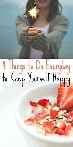 4 Things to Do Everyday to Keep Yourself Healthy and Happy - hint: do you know what you're making for dinner tonight?