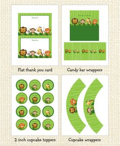 Safari Jungle Animal Printable Baby Shower Party Pack INSTANT DOWNLOAD