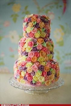 gorgeous, gorgeous floral cake. I need to have a party just to make this cake.