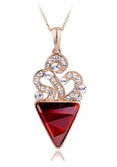 Elegant 18K Gold plated Swarovski Crystal Necklace (2 Colors) -US$ 18.99