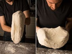 jim lahey no knead pizza dough- nice instructions. try leaving oven on and not using broiler when baking next to avoid sogginess. Four A Pizza, Pizza You, Good Pizza, Pizza Pizza, Pizza Stuff, Oven Recipes, Pizza Recipes, Bread Recipes, Yummy Recipes