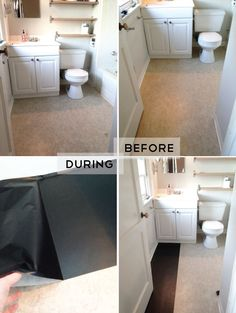 Contact Paper Floors! Rental Solution For The Next Place With Hideous  Linoleum.