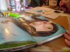 art journaling with megan video 1 part 2-  mycreativebliss
