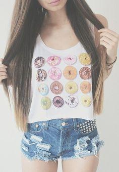Donut perf crop top