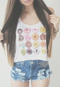 Donut perf crop top