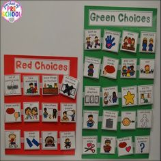Behavior management system for preschoolers can be as simple as making green and red choices.: