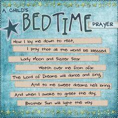 A Pagan Bedtime Prayer…. – charms, chants and spells – Home crafts Evening Prayer, Night Prayer, Prayers For Children, Kids Prayer, Bedtime Prayers For Kids, Prayer Book, Daily Prayer, Childrens Bedtime Prayer, Baby Prayers