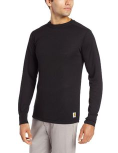 Camp Clothing - Carhartt Mens Base Force Cold Weather Crew Neck Top -- You can get more details by clicking on the image.