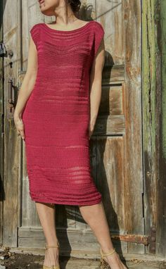 READY Marsala dress Handknitt dress Burgundy от JuliasFineKnits