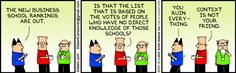 Dilbert comic on rankings (can be applied to ed reform)